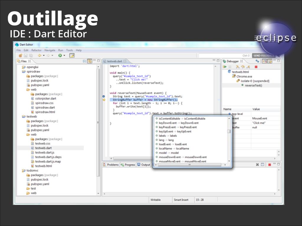Outillage IDE : Dart Editor