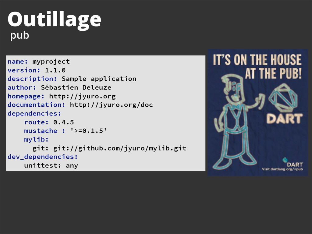 Outillage pub name: myproject version: 1.1.0...