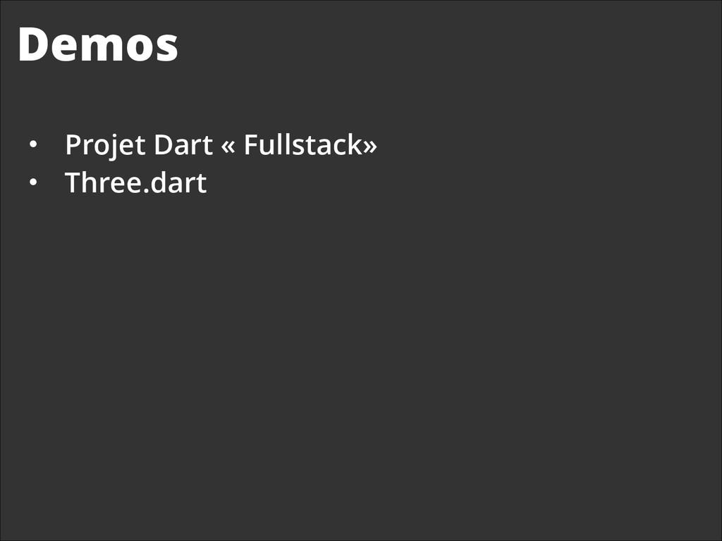 Demos • Projet Dart « Fullstack»  • Three.da...
