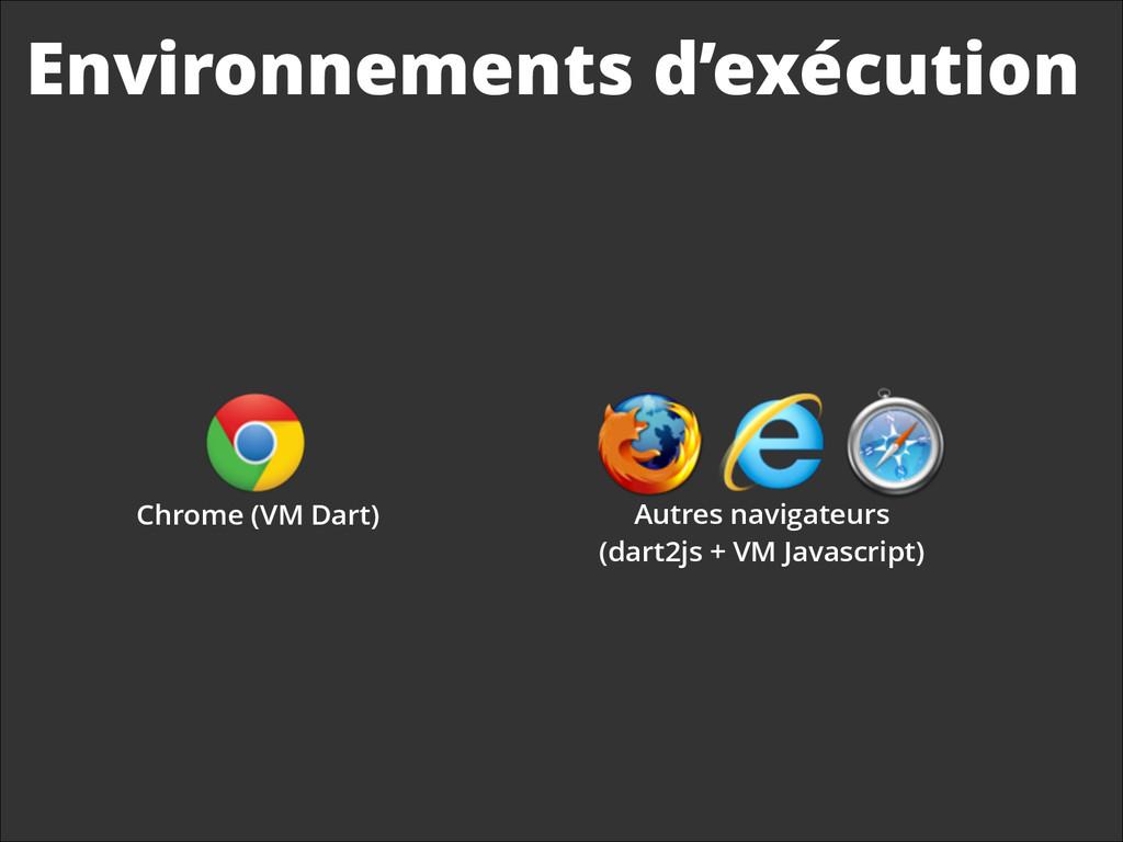 Environnements d'exécution Chrome (VM Dart) Aut...