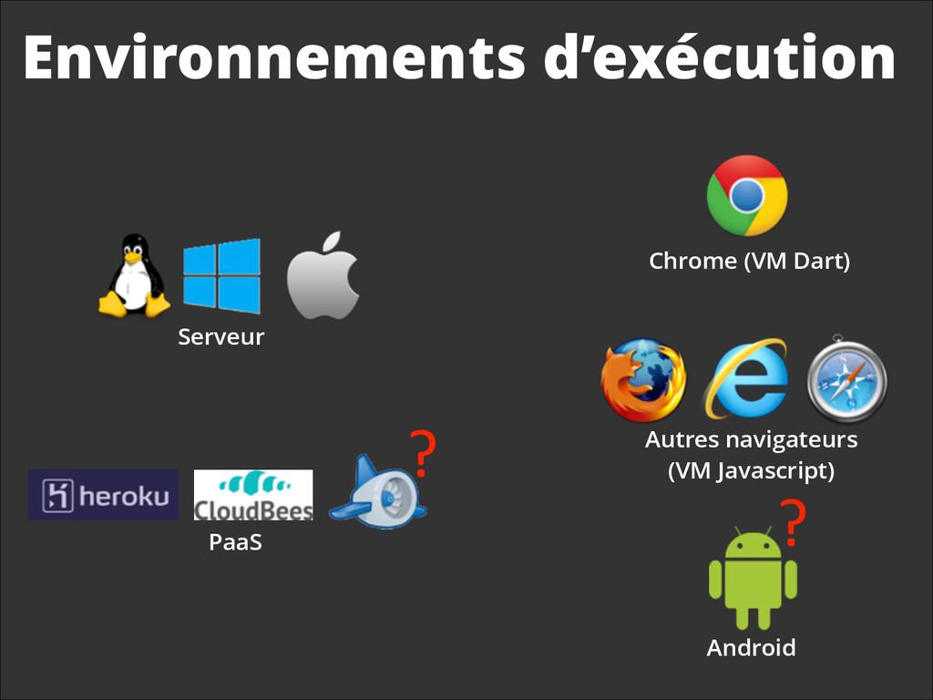 Environnements d'exécution Chrome (VM Dart) Ser...