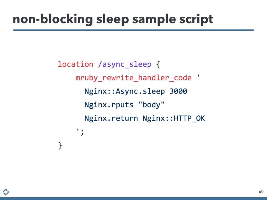 non-blocking sleep sample script 60