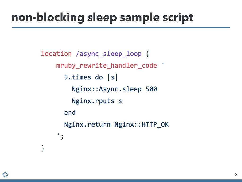 non-blocking sleep sample script 61