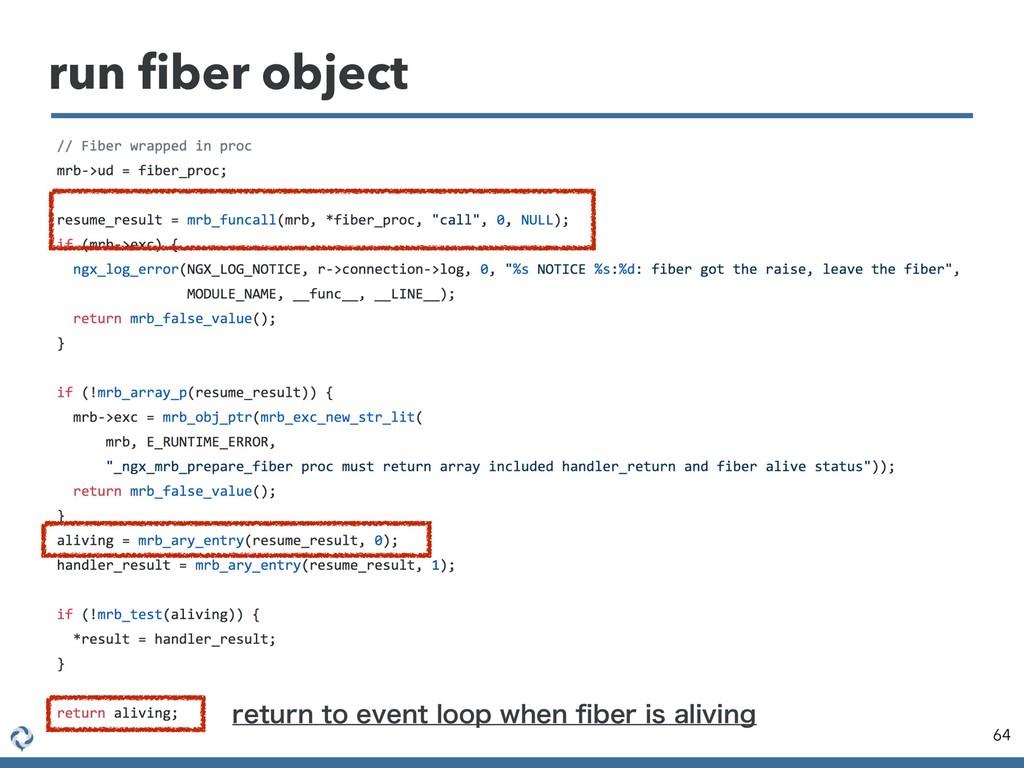 run fiber object 64 SFUVSOUPFWFOUMPPQXIFOpC...