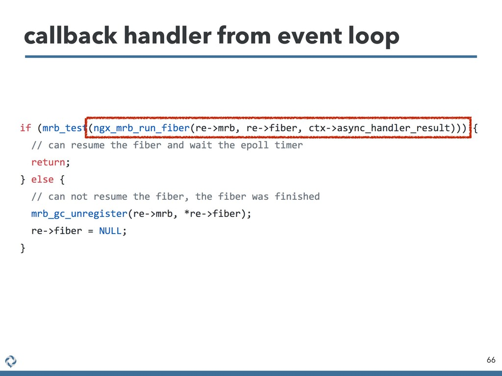 callback handler from event loop 66