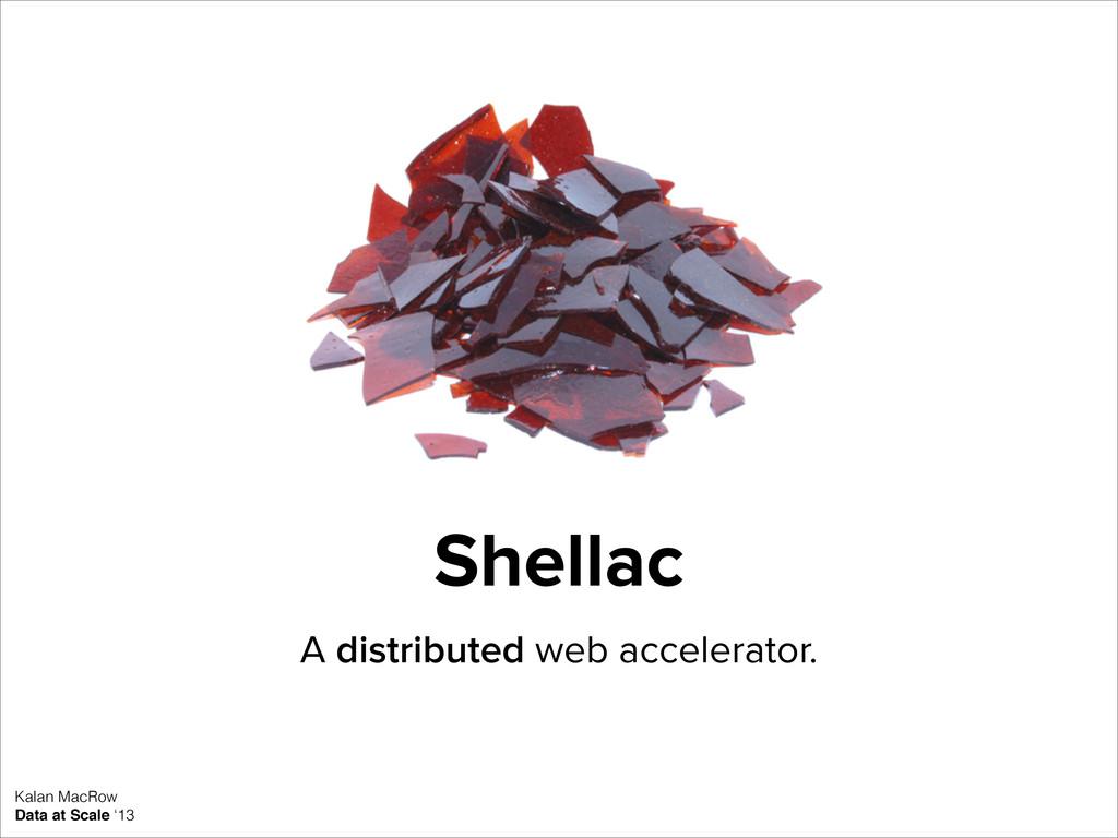 Shellac A distributed web accelerator. Kalan Ma...