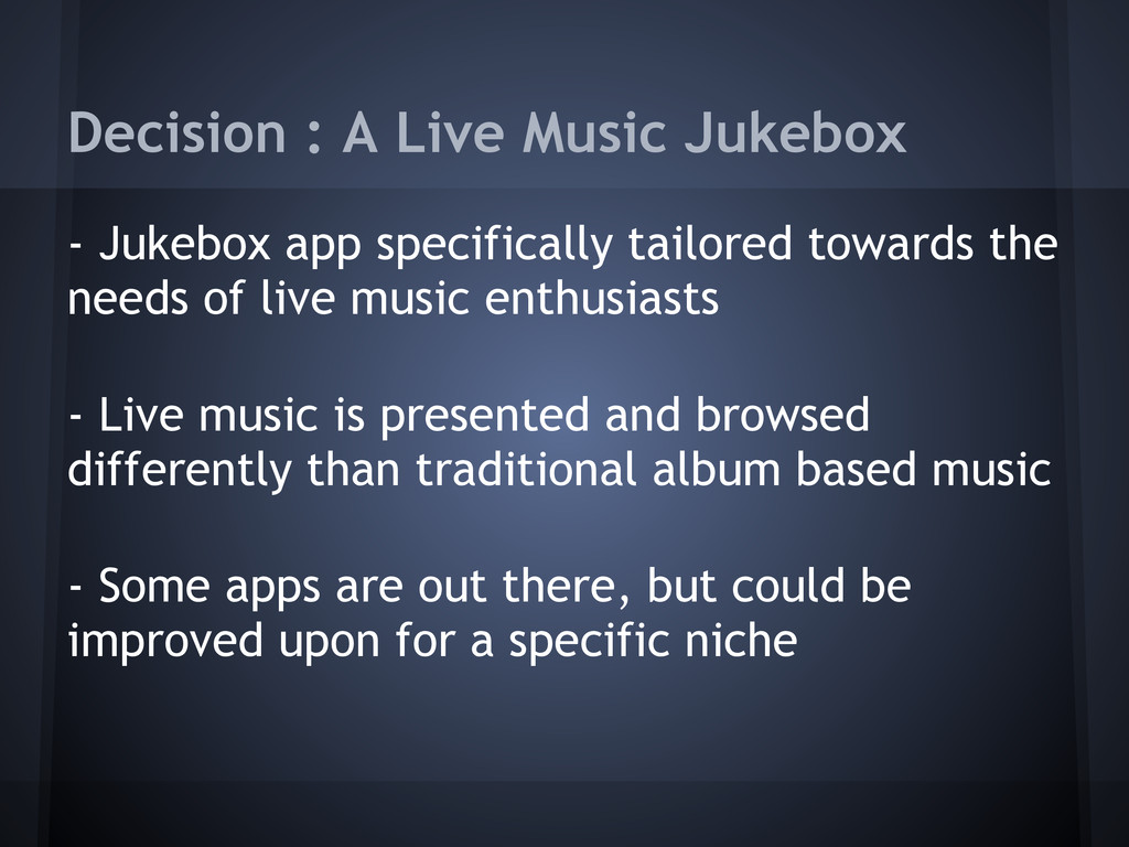Decision : A Live Music Jukebox - Jukebox app s...