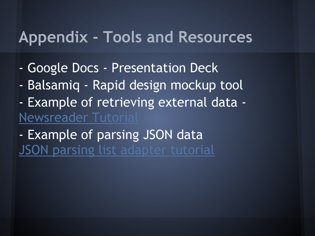 Appendix - Tools and Resources - Google Docs - ...