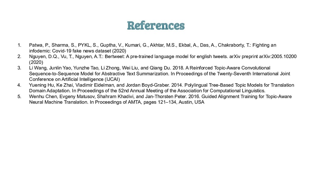 References 1. Patwa, P., Sharma, S., PYKL, S., ...