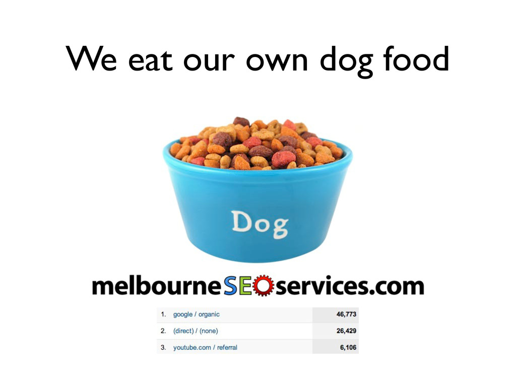 We eat our own dog food