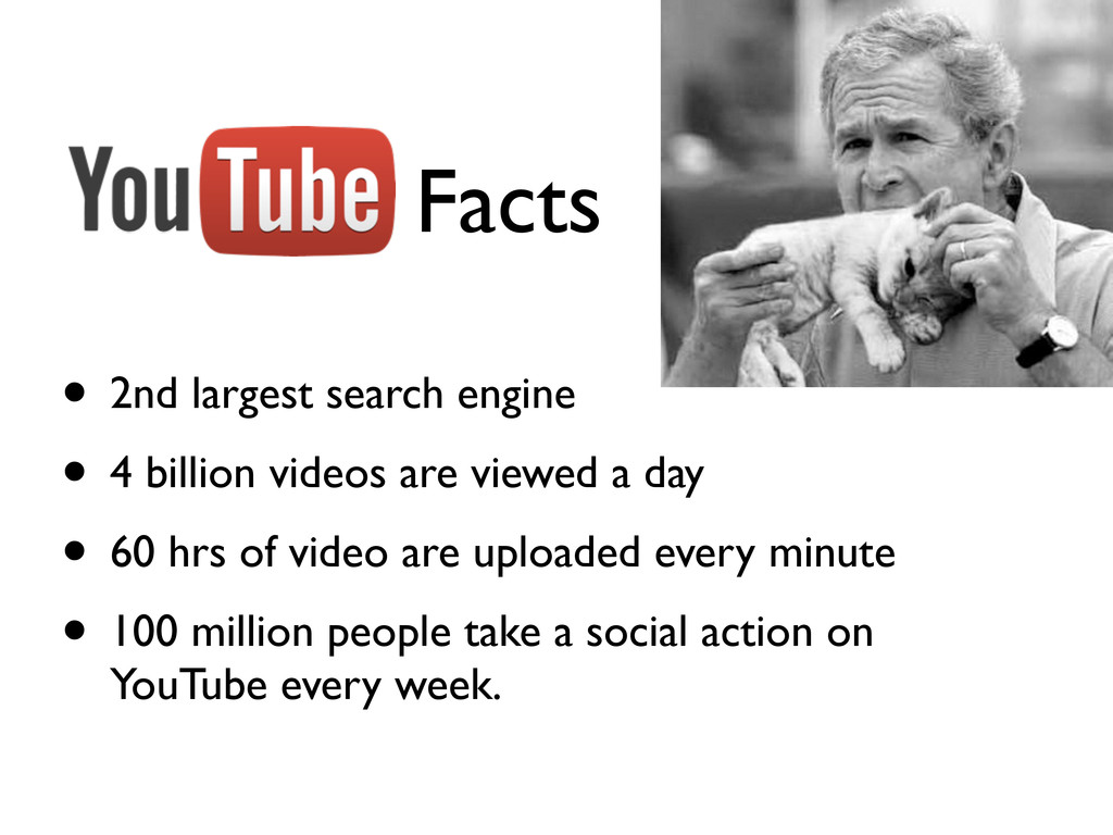 Facts • 2nd largest search engine • 4 billion v...