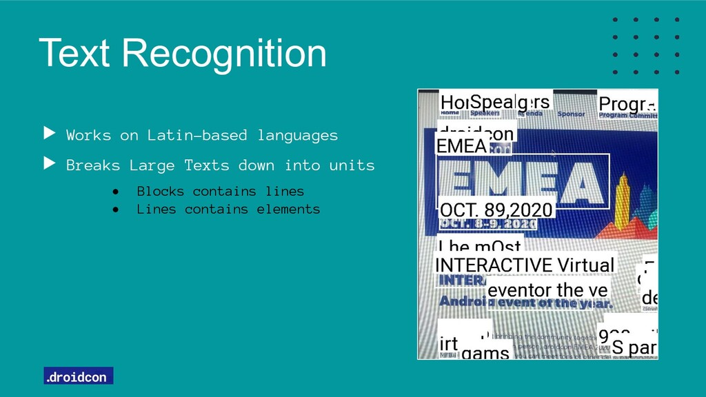 Text Recognition Works on Latin-based languages...