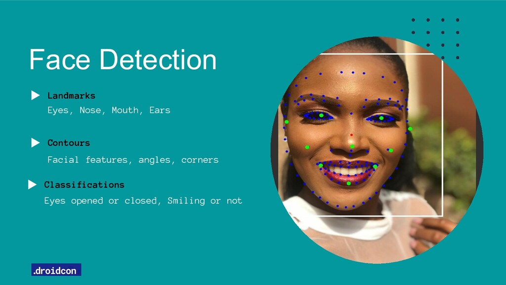 Face Detection Landmarks Eyes, Nose, Mouth, Ear...