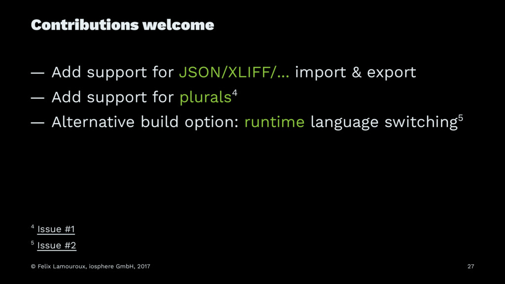 Contributions welcome — Add support for JSON/XL...