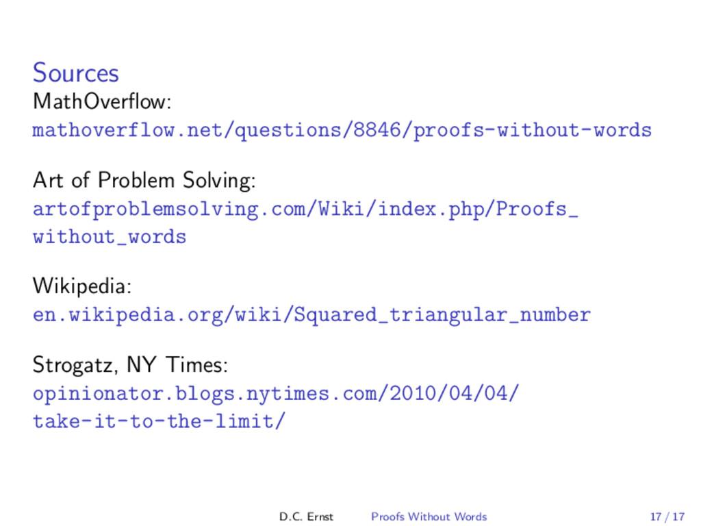 Sources MathOverflow: mathoverflow.net/questions...