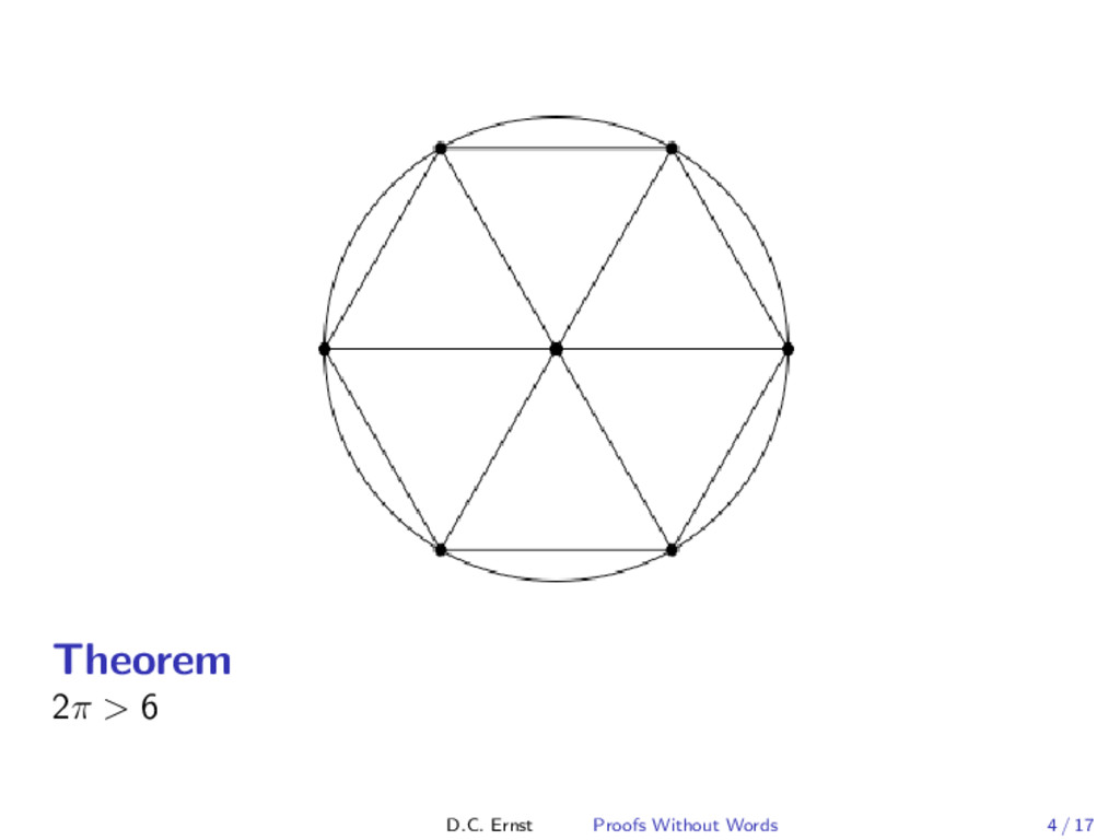 Theorem 2π > 6 D.C. Ernst Proofs Without Words ...