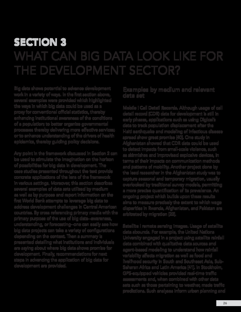 Big data shows potential to advance development...