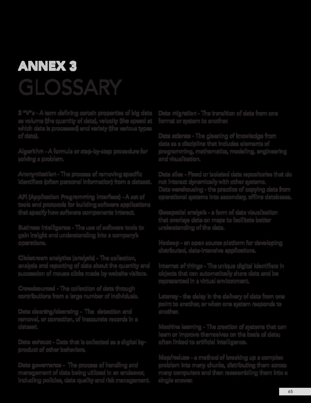 "GLOSSARY ANNEX 3 65 3 ""V""s - A term defining ce..."