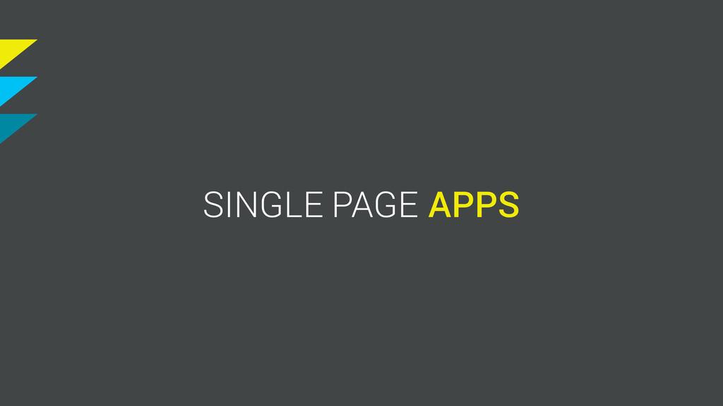 S SINGLE PAGE APP