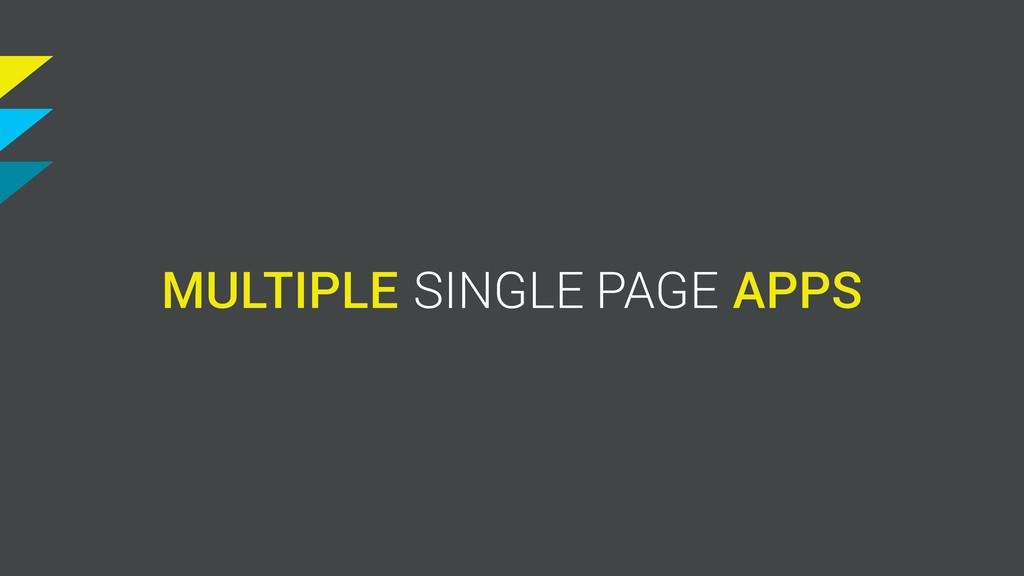 MULTIPLE S SINGLE PAGE APP
