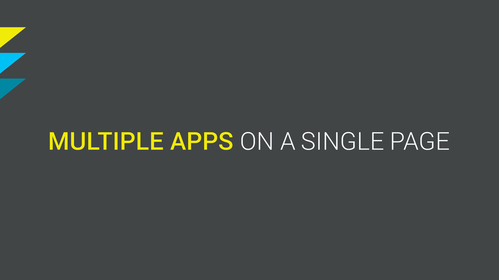 MULTIPLE S SINGLE PAGE APP ON A