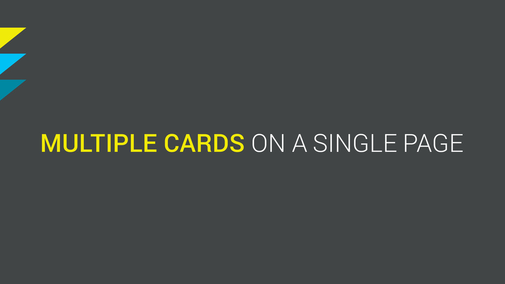 MULTIPLE SINGLE PAGE ON A CARDS