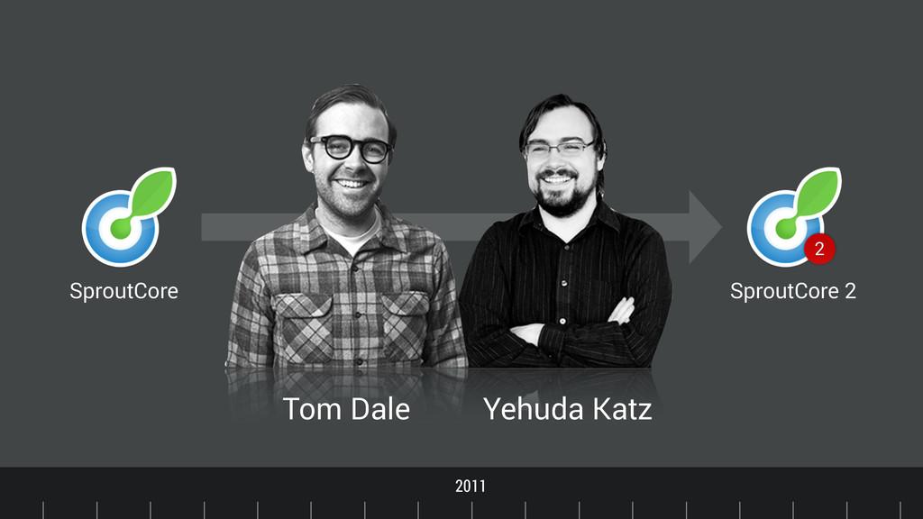 Timeline 2011 SproutCore Tom Dale Yehuda Katz S...