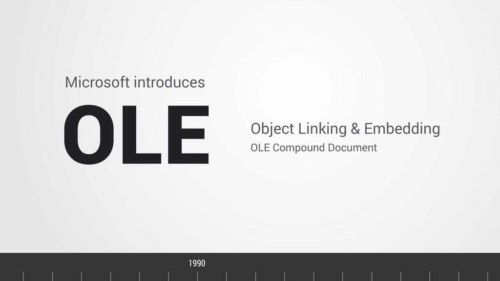 Timeline Microsoft introduces OLE Object Linkin...
