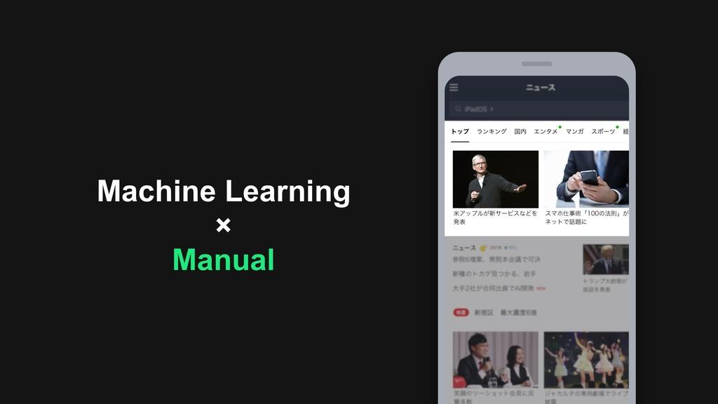 Machine Learning × Manual