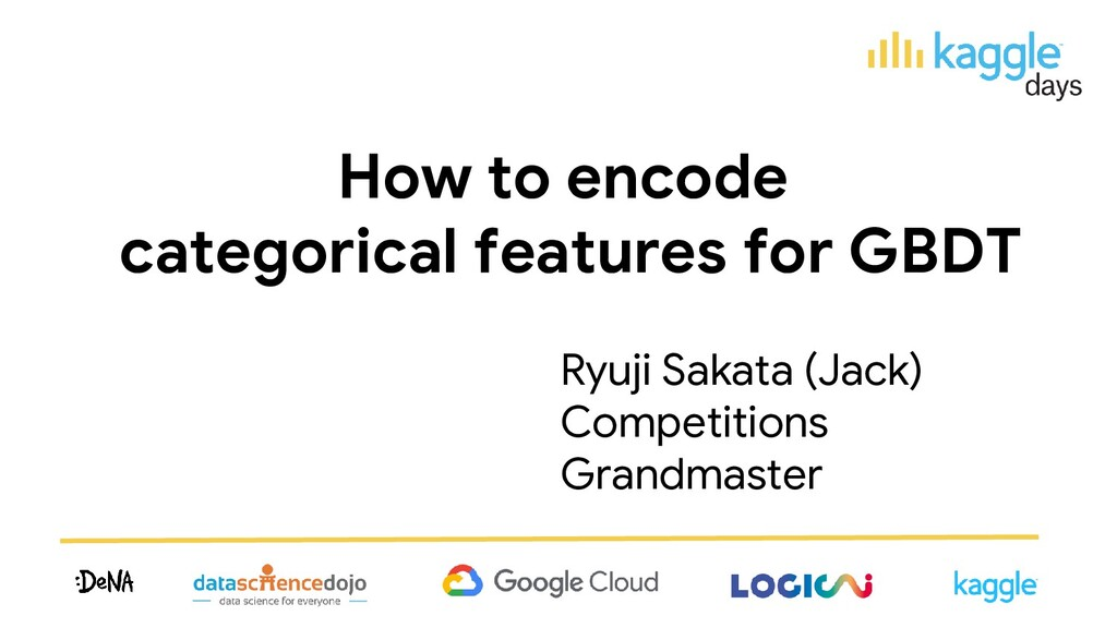 How to encode categorical features for GBDT Ryu...