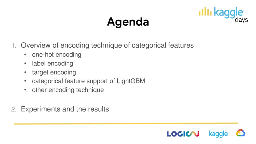 Agenda 1. Overview of encoding technique of cat...