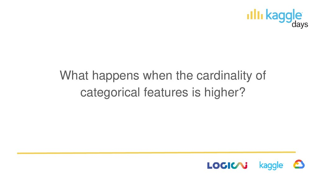 What happens when the cardinality of categorica...