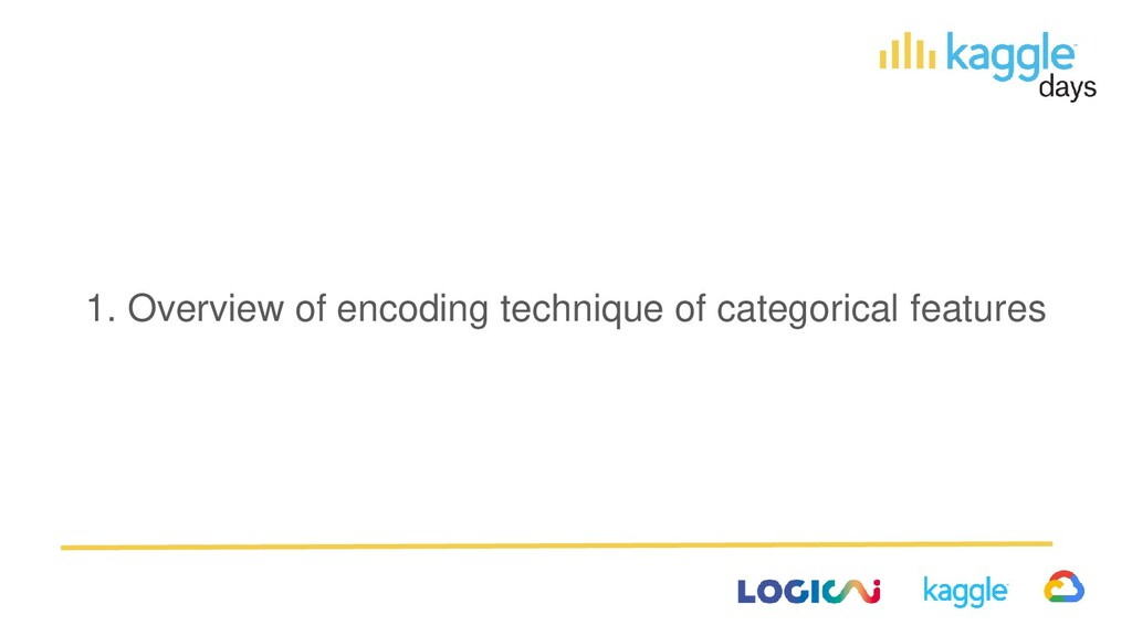 1. Overview of encoding technique of categorica...