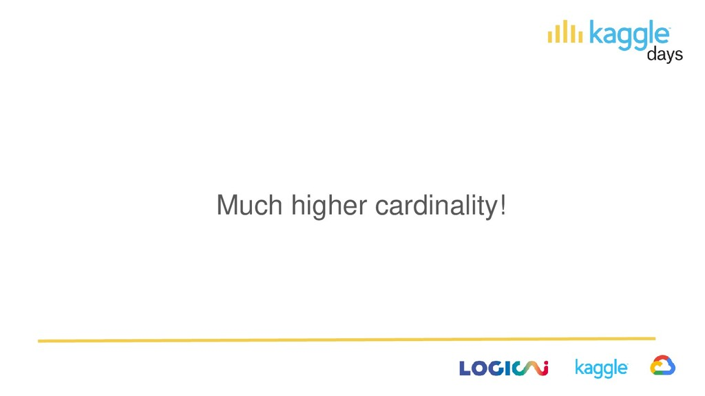 Much higher cardinality!