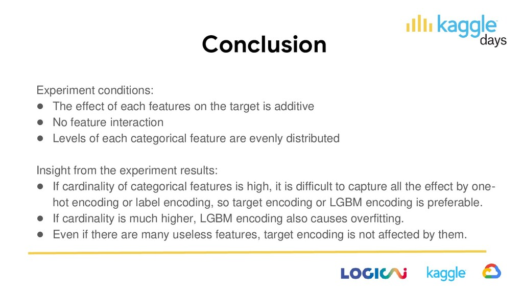 Conclusion Experiment conditions: ● The effect ...