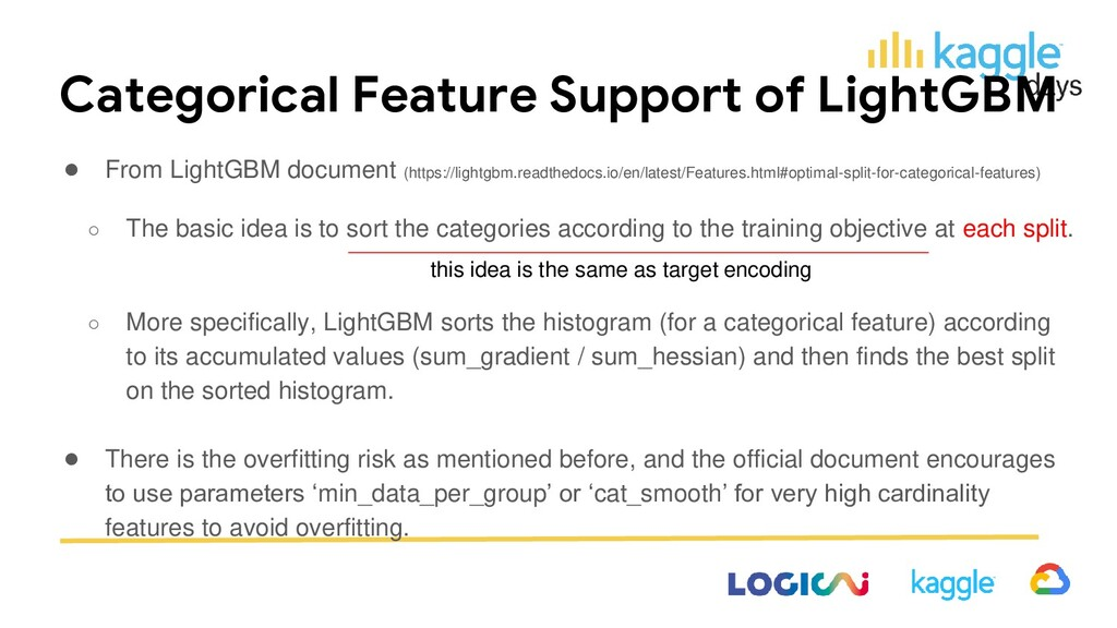 Categorical Feature Support of LightGBM ● From ...