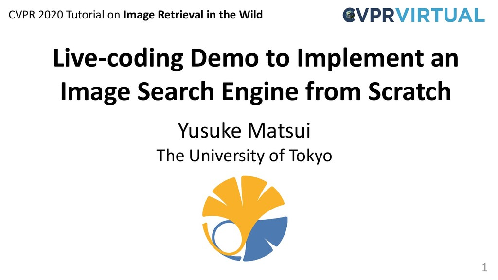 1 Live-coding Demo to Implement an Image Search...