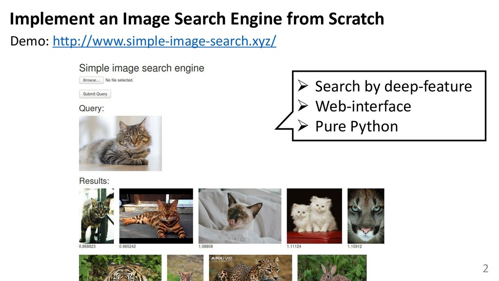 2 Implement an Image Search Engine from Scratch...