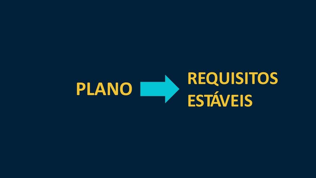 PLANO REQUISITOS ESTÁVEIS