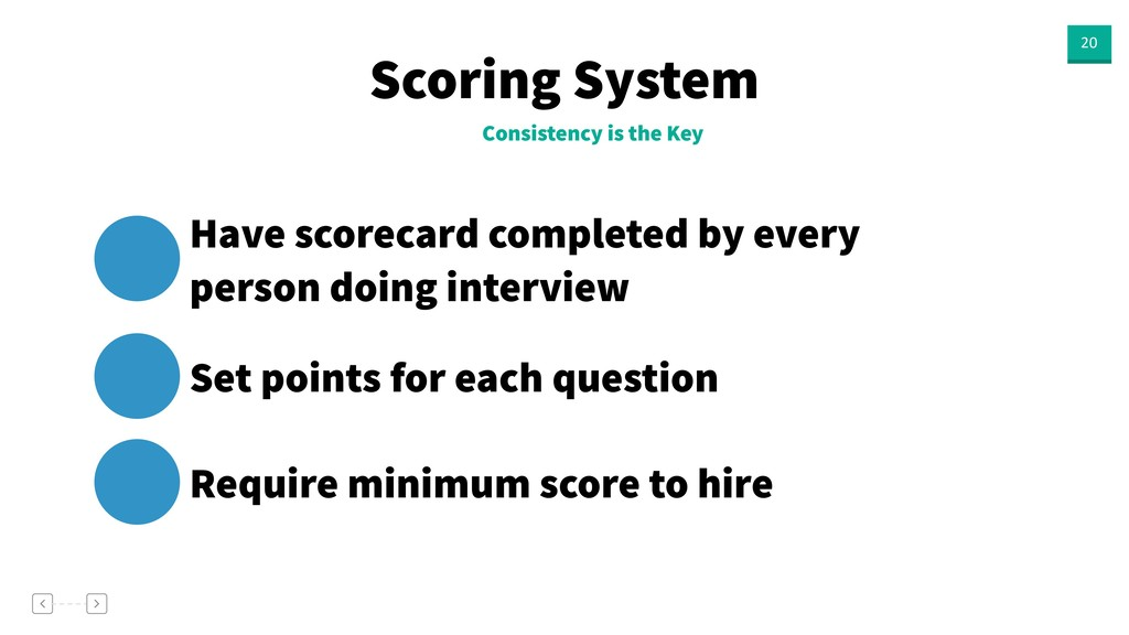 Scoring System 20 Consistency is the Key Have s...