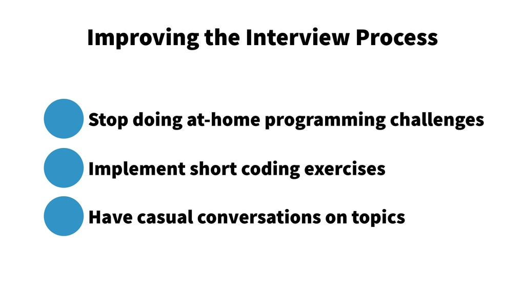 Improving the Interview Process 5 Stop doing at...