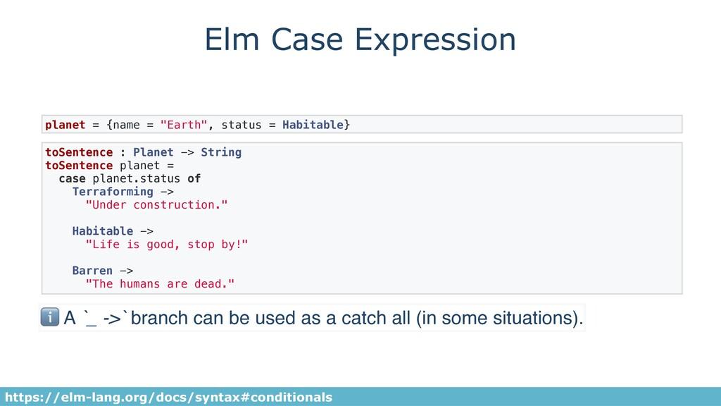 Elm Case Expression toSentence : Planet -> Stri...