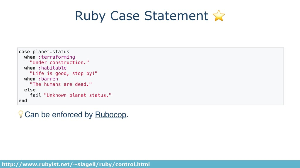 Ruby Case Statement ⭐ case planet.status when :...