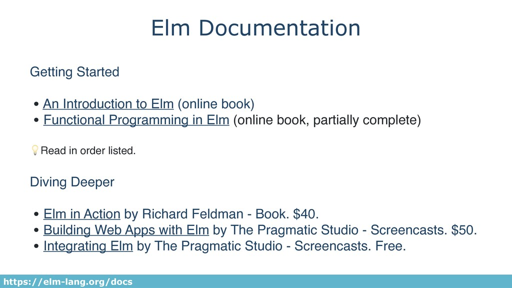 Elm Documentation Getting Started • An Introduc...