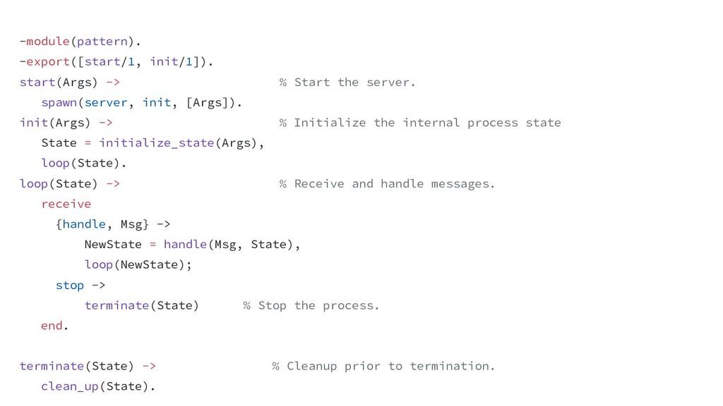 -module(pattern). -export([start/1, init/1]). s...