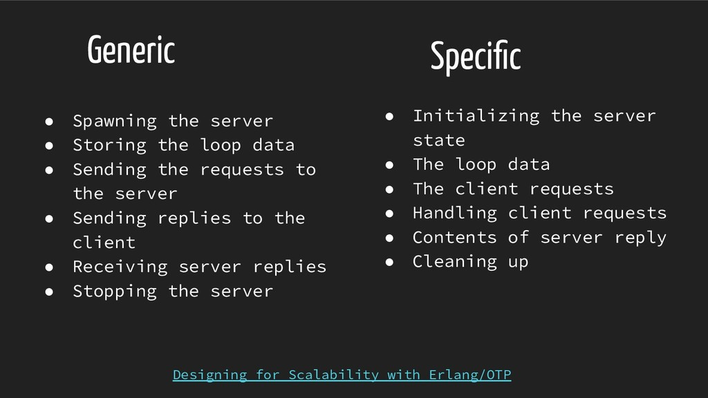 Generic ● Initializing the server state ● The l...