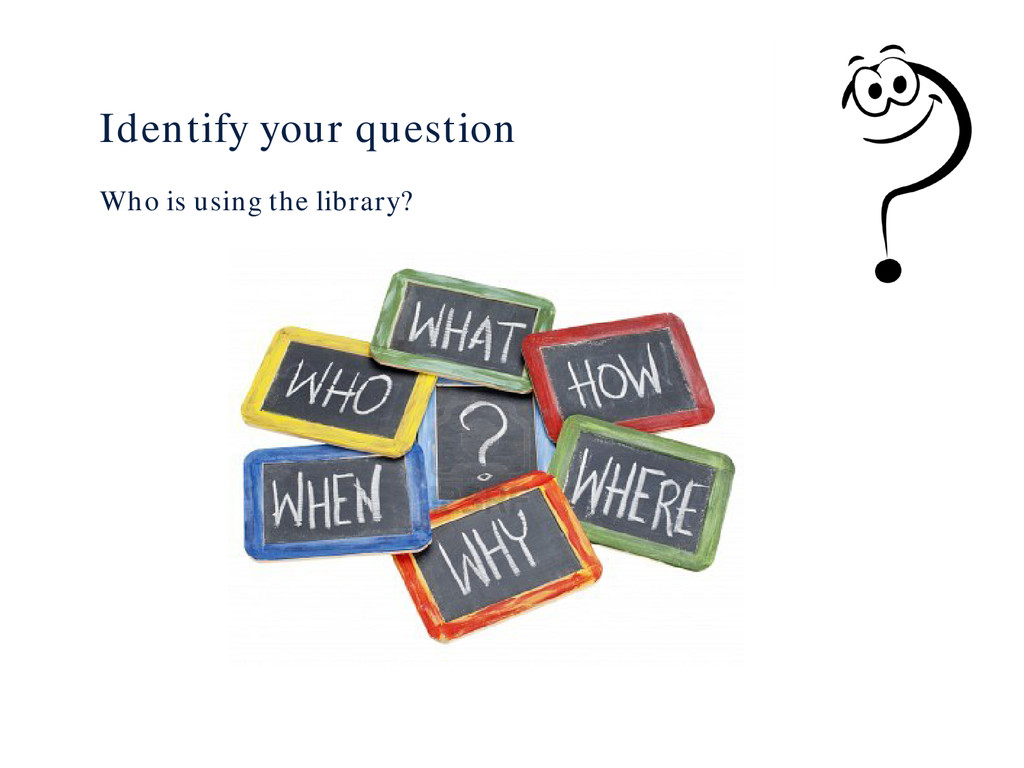 Identify your question Who is using the library?
