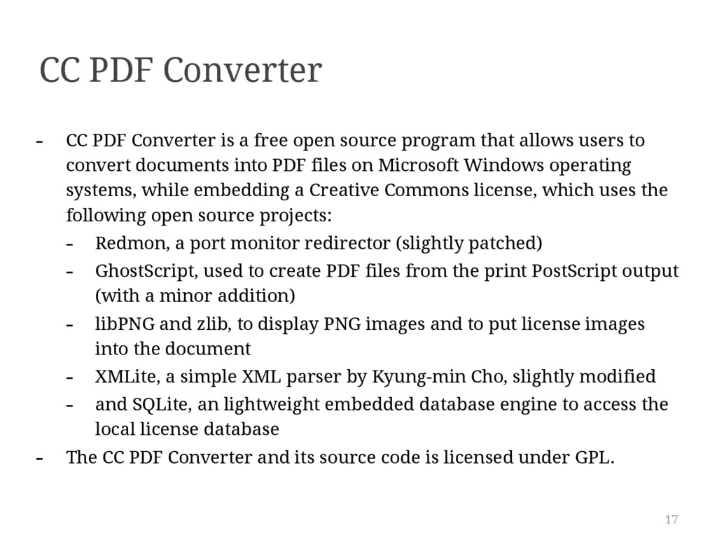 17 CC PDF Converter - CC PDF Converter is a fre...