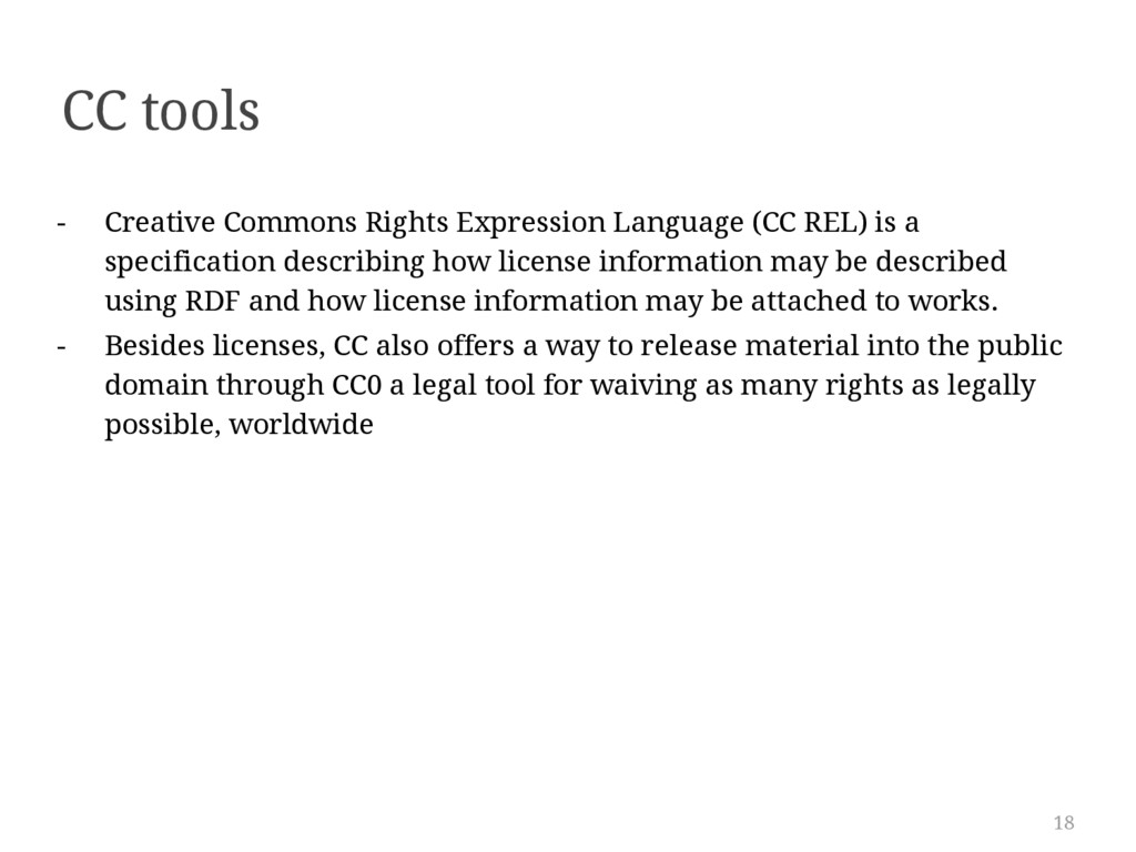 18 CC tools - Creative Commons Rights Expressio...
