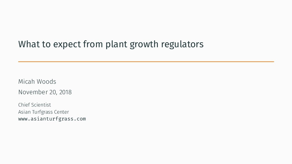 What to expect from plant growth regulators Mic...